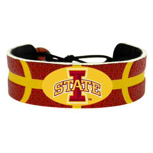 Iowa State Cyclones Primary Athletic Mark Logo Team Color Basketball Bracelet