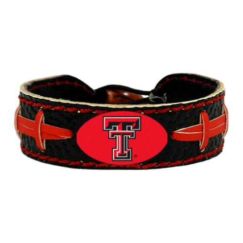 Texas Tech Red Raiders Team Color Football Bracelet