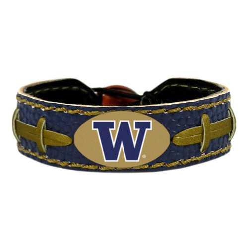 Washington Huskies Team Color Football Bracelet
