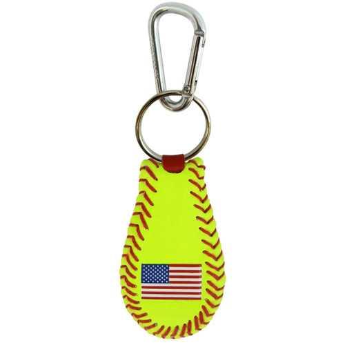 American Flag Keychain Classic Softball