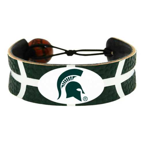 Michigan State Spartans Bracelet Team Color Basketball