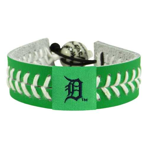 Detroit Tigers Bracelet Team Color Baseball St. Patrick's Day
