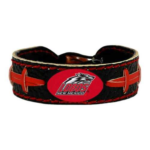 New Mexico Lobos Team Color Football Bracelet