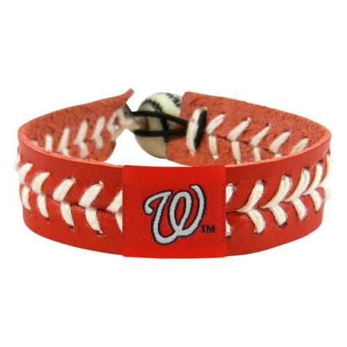 Washington Nationals Bracelet Team Color Baseball