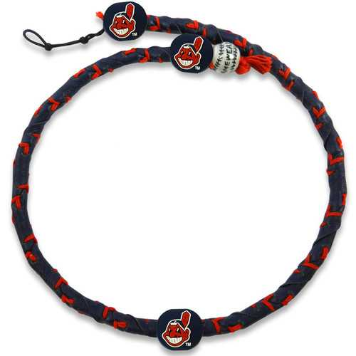 Cleveland Indians Necklace Frozen Rope Team Color Baseball