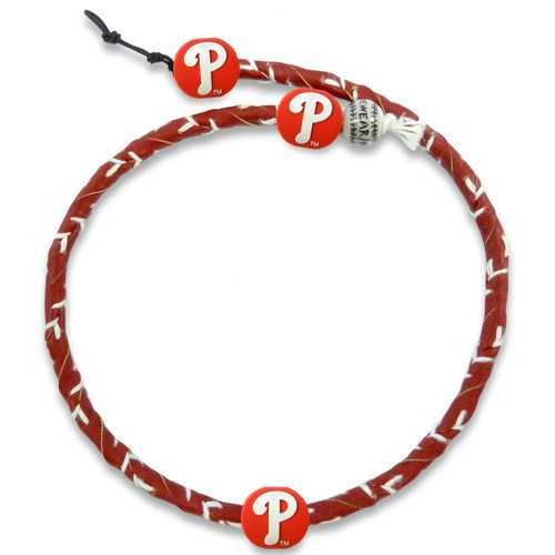 Philadelphia Phillies Team Color Frozen Rope Baseball Necklace