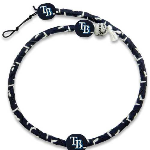 Tampa Bay Rays Team Color Frozen Rope Baseball Necklace
