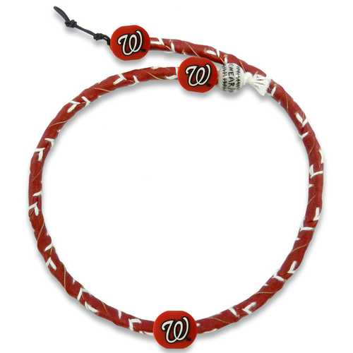 Washington Nationals Necklace Frozen Rope Team Color Baseball