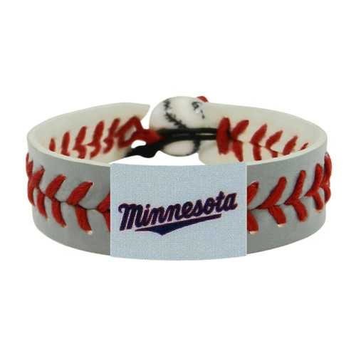 Minnesota Twins Bracelet Team Color Baseball Minnesota Script Logo Gray