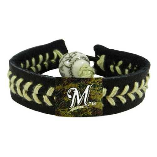 Milwaukee Brewers Bracelet Team Color Baseball Camo