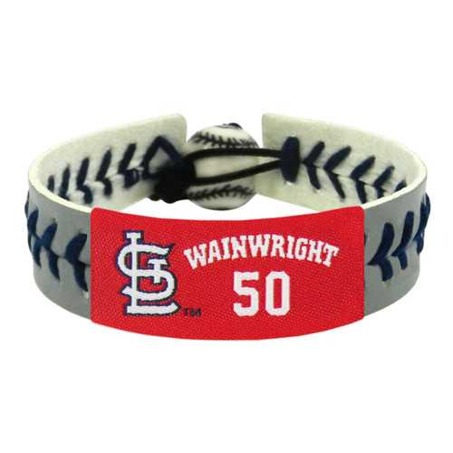 St. Louis Cardinals Bracelet Team Color Baseball Adam Wainwright Gray