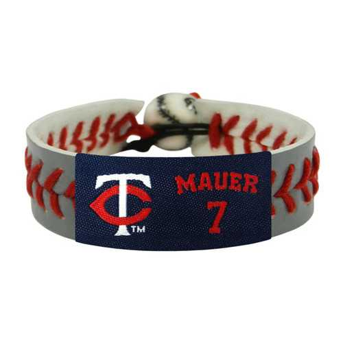 Minnesota Twins Bracelet Team Color Baseball Gray Joe Mauer