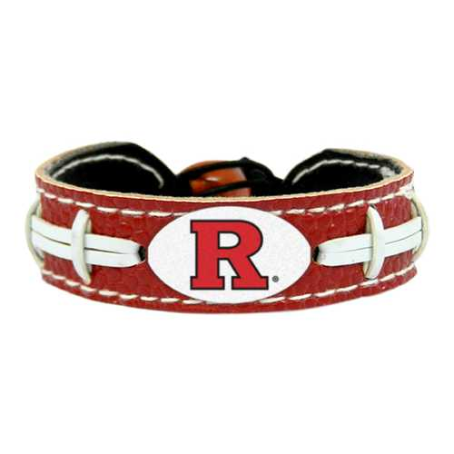 Rutgers Scarlet Knights Team Color Football Bracelet