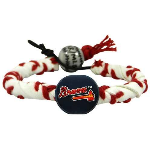 Atlanta Braves Bracelet Frozen Rope Classic Baseball Tomohawk Logo