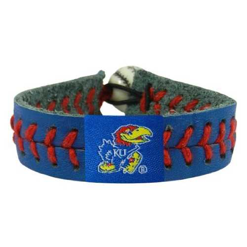 Kansas Jayhawks Team Color Baseball Bracelet - Special Order