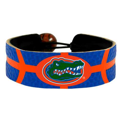 Florida Gators Team Color Basketball Bracelet