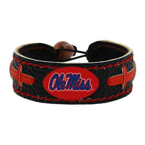 Mississippi Rebels Bracelet Team Color Football