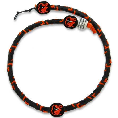 Baltimore Orioles Necklace Frozen Rope Team Color Baseball Cap Logo