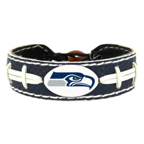 Seattle Seahawks Team Color Football Bracelet - Blue