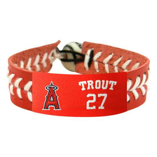 Los Angeles Angels Bracelet Team Color Baseball Mike Trout