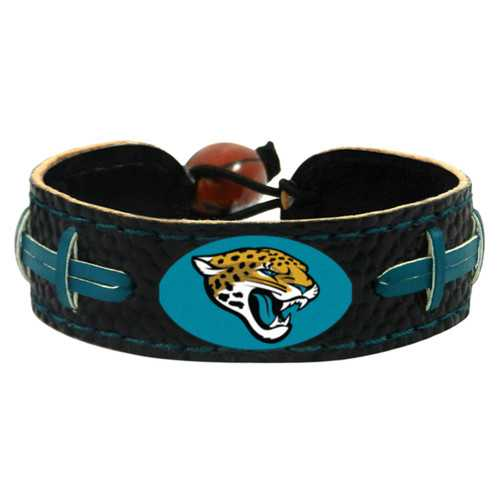 Jacksonville Jaguars Team Color Football Bracelet