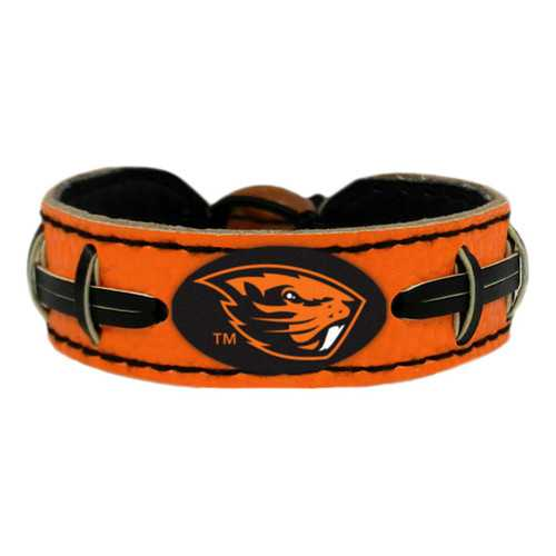 Oregon State Beavers Team Color Football Bracelet