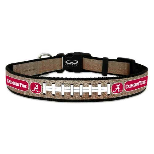 Alabama Crimson Tide Pet Collar Reflective Football Size Small