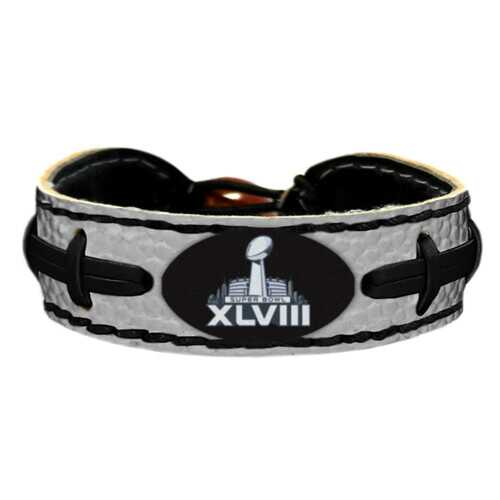 Super Bowl XLVIII Trophy Logo Team Color NFL Football Bracelet