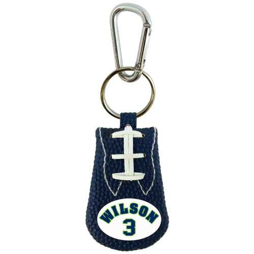 Seattle Seahawks Keychain Team Color Jersey Russell Wilson Design
