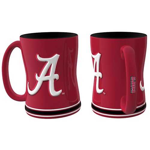 Alabama Crimson Tide Coffee Mug - 14oz Sculpted Relief