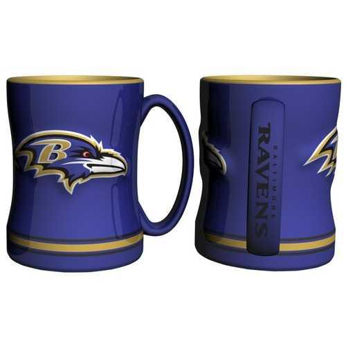 Baltimore Ravens Coffee Mug - 14oz Sculpted Relief