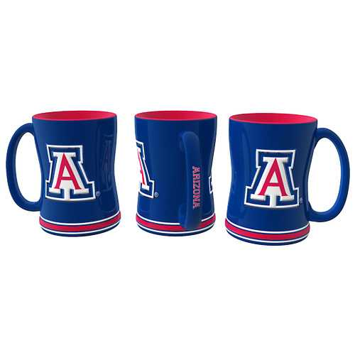 Arizona Wildcats Coffee Mug 14oz Sculpted Relief Special Order