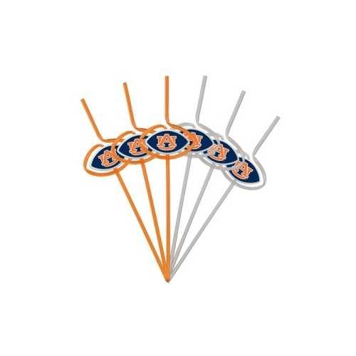 Auburn Tigers Team Sipper Straws