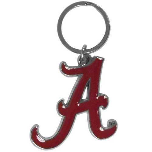 Alabama Crimson Tide Chrome Logo Cut Keychain