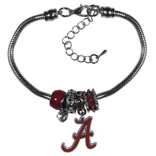 Alabama Crimson Tide Bracelet Euro Bead Style