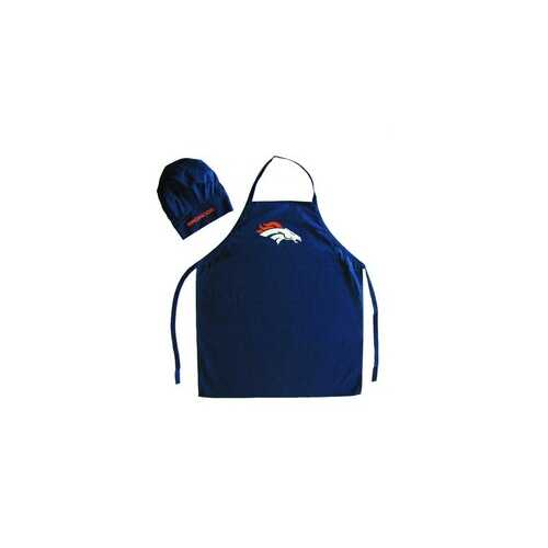 Denver Broncos Apron and Chef Hat Set