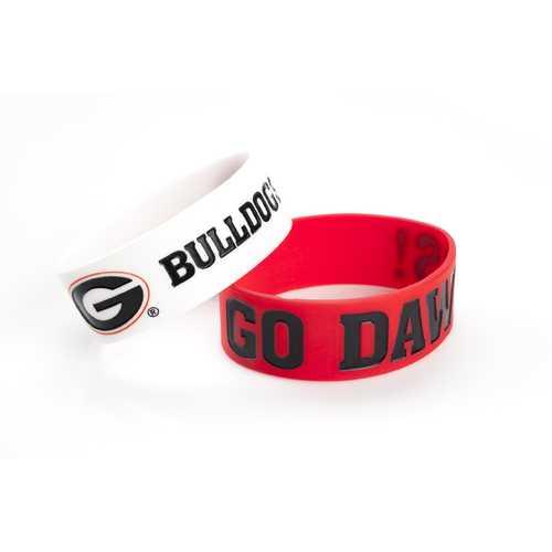 Georgia Bulldogs Bracelets 2 Pack Wide