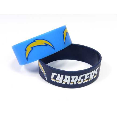 Los Angeles Chargers Bracelets 2 Pack Wide Special Order