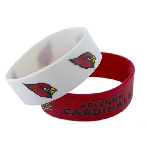 Arizona Cardinals Bracelets 2 Pack Wide Special Order