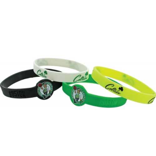 Boston Celtics Bracelets 4 Pack Silicone Special Order