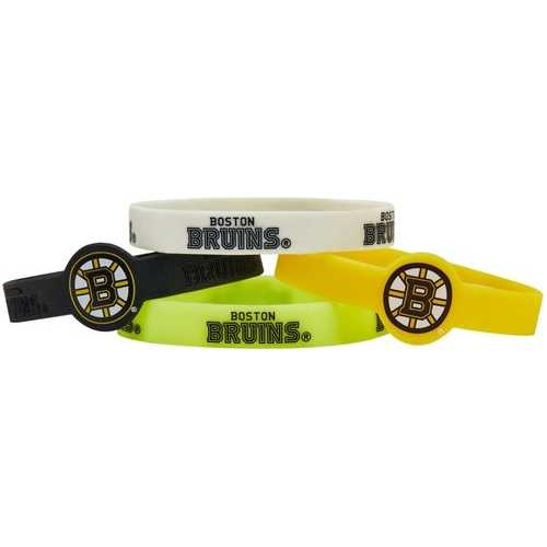 Boston Bruins Bracelets - 4 Pack Silicone Special Order