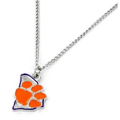 Clemson Tigers Necklace State Design