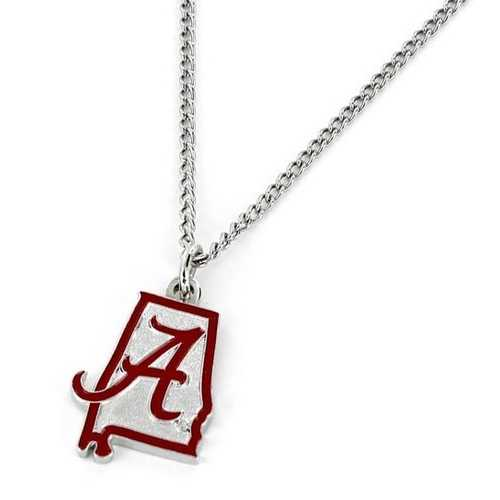Alabama Crimson Tide Necklace State Design