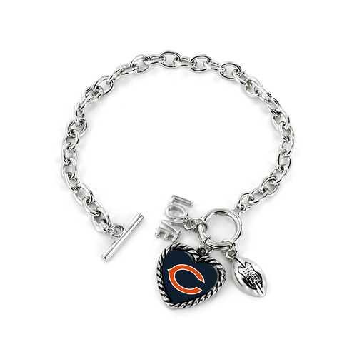 Chicago Bears Bracelet Charmed Sport Love Football