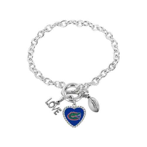 Florida Gators Bracelet Charmed Sport Love Football