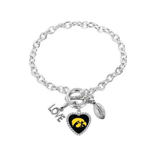 Iowa Hawkeyes Bracelet Charmed Sport Love Football