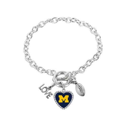 Michigan Wolverines Bracelet Charmed Sport Love Football