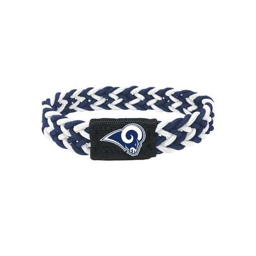 Los Angeles Rams Bracelet Braided Navy and White