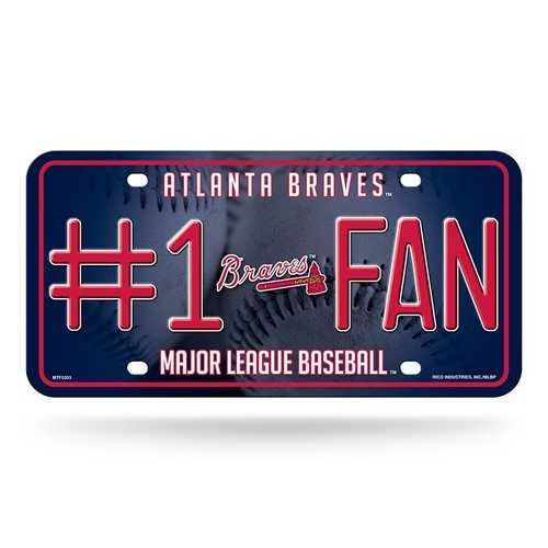 Atlanta Braves License Plate #1 Fan