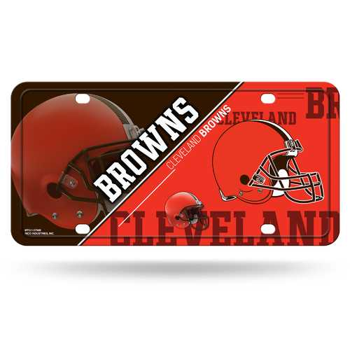 Cleveland Browns License Plate Metal